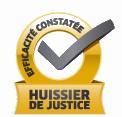 attestation huissier courtier gratuit